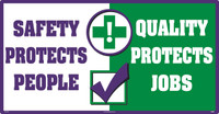 Safety Protects People Large Wall Sign,24X46,Texwalk
