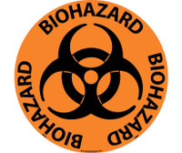 "Floor Sign Walk On Biohazard 17"" Dia"