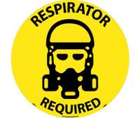 Floor Sign Walk On Respirator Required 17 Dia Ps Vinyl
