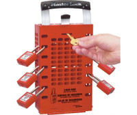 Group Lock Box Latch Tight Design Red