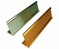 Desk Plate Holder Silver 2X8