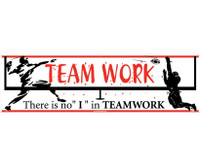 "Banner Teamwork There Is No ""I"" In Teamwork 3Ft X 10Ft"