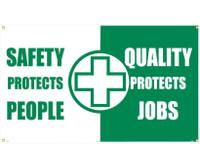 Banner Safety Protects People Quality Protects Jobs 3Ft X 5Ft