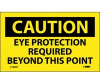 Caution Eye Protection Required Beyond This Point 3X5 Ps Vinyl 5/Pl