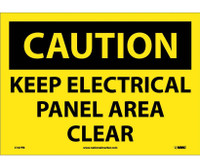 Caution Keep Electrical Panel Area Clear 14X10 Ps Vinyl