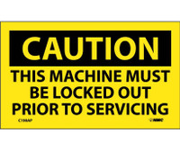 Caution This Machine Must Be Locked Out Prior To Servicing 3X5 Ps Vinyl 5/Pk