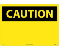 Caution (Header Only) 14X20 Rigid Plastic
