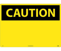 Caution (Header Only) 20X28 Rigid Plastic