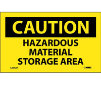 Caution Hazardous Material Storage Area 3X5 Ps Vinyl 5/Pk