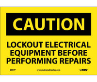 Caution Lockout Electrical Equipment Before . . .. 7X10 Ps Vinyl