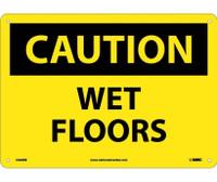 Caution Wet Floors 10X14 Rigid Plastic