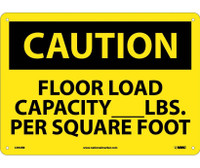 Caution Floor Load Capacity__Lbs. Per Square Foot 10X14 Rigid Plastic