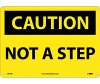 Caution Not A Step 10X14 Rigid Plastic