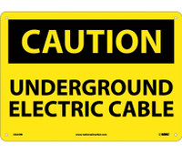 Caution Underground Electric Cable 10X14 Rigid Plastic