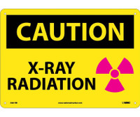 Caution X-Ray Radiation Graphic 10X14 Rigid Plastic
