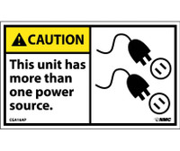 Caution This Unit Has More Than One Power Source (Graphic) 3X5 Ps Vinyl 5/Pk