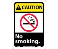 Caution No Smoking (W/Graphic) 10X7 Rigid Plastic