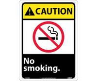 Caution No Smoking (W/Graphic) 14X10 Rigid Plastic