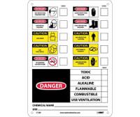 Labels Chemical Id 14X10 Rigid Plastic