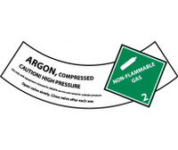 Cylinder Labels Argon 2X5 1/4 Ps Vinyl 25/Pk