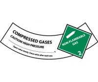 Cylinder Labels Compressed Gas 2X5 1/4 Ps Vinyl 25/Pk