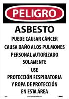 Asbestos Dust Hazard (Spanish) 20X14 Paper 100/Pk