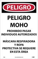 Danger Microbial Hazard.. (Spanish) Peligro Moho 17X11 Paper 100/Pk