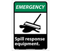 Emergency Spill Response Equipment (W/Graphic) 10X7 Rigid Plastic