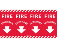 Fire Extinguisher Column Marker 12X24 Ps Vinyl