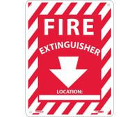 Fire Extinguisher (W/Blank Space) 12X9 Rigid Plastic