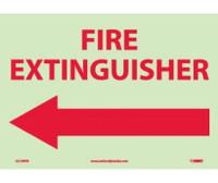 Fire Fire Extinguisher Left Arrow 10X14 Ps Vinylglow