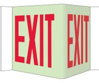 Visi Sign Exit Glow 8X14 1/2