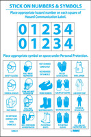Right To Know Labels Personal Protection Numbers & Symbols Ps Vinyl 10/Pk