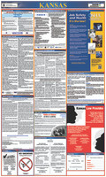 Labor Law Poster Kansas,State And Federal 40X24