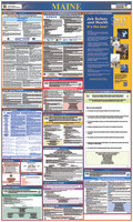 Labor Law Poster Maine State And Federal 40X24