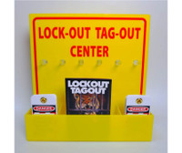 Lock-Out Tag-Out Center With 1 Pack Of Lotag 1 And 1 Handbook 16 X 16  Yellow Acrylic   Locks Sold Separately