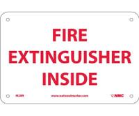 Fire Extinguisher Inside 6X9 Rigid Plastic