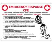 Cpr Emergency Response 10X14 Rigid Plastic