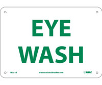 Eye Wash 7X10 Rigid Plastic