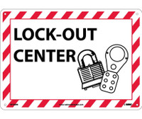 Lock-Out (W/Graphic) 10X14 Rigid Plastic