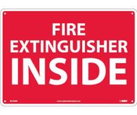 Fire Extinguisher Inside 10X14 Rigid Plastic