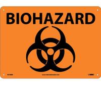 Biohazard (Symbol) 10X14 Rigid Plastic