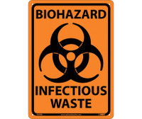 Biohazard Infectious Waste 10X14 Rigid Plastic