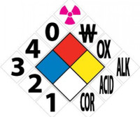 "Hazardous Material Kit 15.5X15.5 Rigid Backboard With 1 Each Of 6"" Symbols And 3 Each Of Numbers 1 Thru 0 In P/S Vinyl"