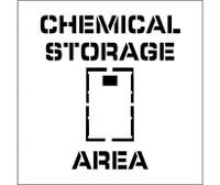 Stencil Chemical Storage Area Graphic 24X24 .060 Plastic