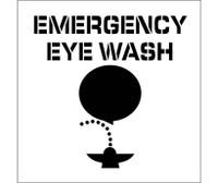 Stencil Emergency Eye Wash Graphic 24X24 .060 Plastic