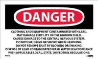 Labels Danger Lead Containing Hazardous Waste Avoid Creating Dust Rq Hazardous Substance Solid N.O.S. (Paint Residue-Lead) Na 9189 (Orm-E) 3X5 Ps Paper 500