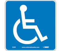 Handicapped (W/ Graphic) 7X7 Rigid Plastic