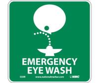 Emergency Eye Wash (W/ Graphic) 7X7 Rigid Plastic
