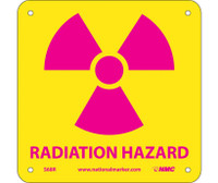 Radiation Hazard (W/ Graphic) 7X7 Rigid Plastic